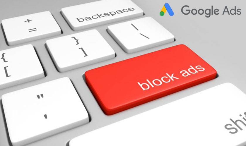 Google very keen on blocking unwanted ads!