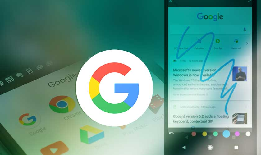 google app tests screenshot editing