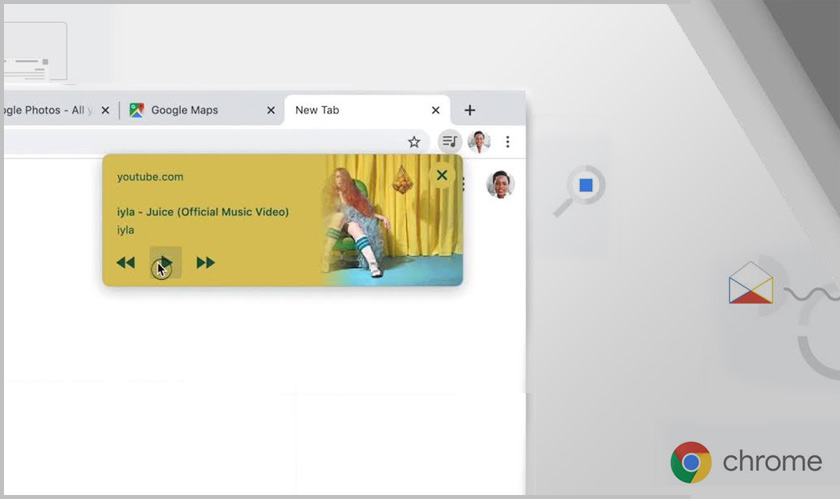 Media controls is the latest feature added to Google Chrome