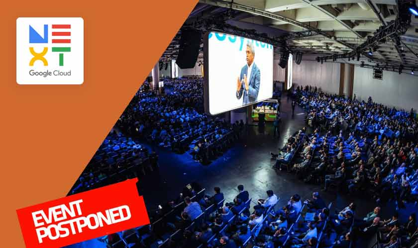 Google Cloud Next conference postponed indefinitely