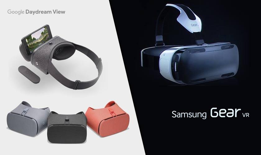 google daydream samsung gear vr mobile