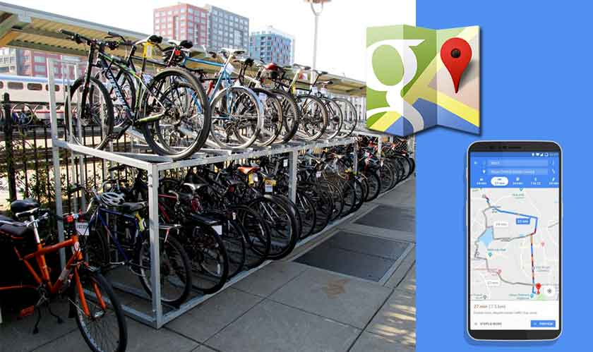 Google Maps to show bike sharing stations and availability of bikes