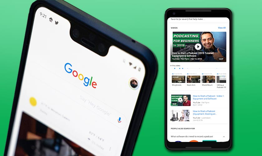 Google search now reveals key moments in video