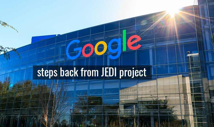 google steps back from jedi
