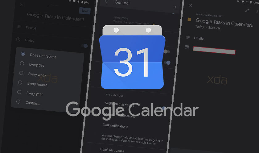 Finally Google Tasks lands in Google Calendar