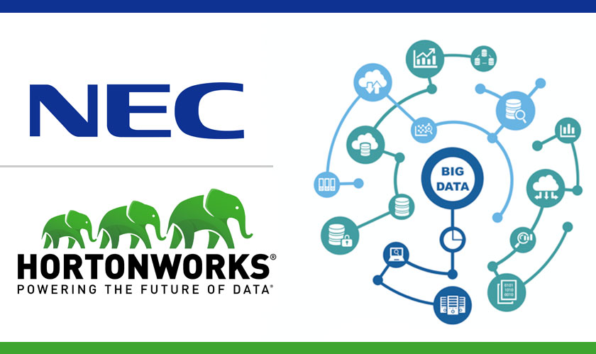 Hortonworks and NEC associate to deliver a Distributed Processing Platform for Big Data