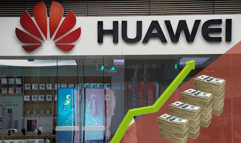 huawei revenue rises