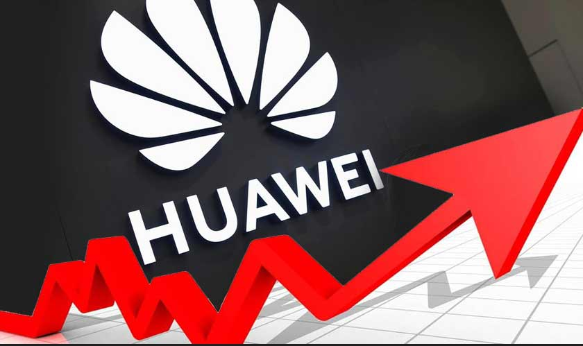 huawei revenues rise