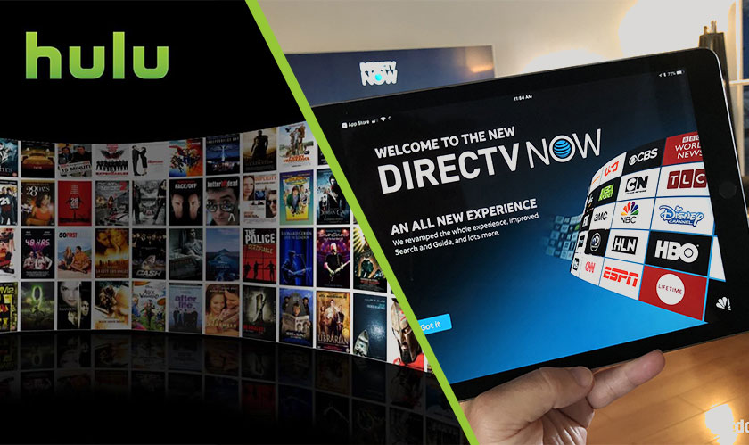 Advertisements when you pause streaming on Hulu and DirecTV