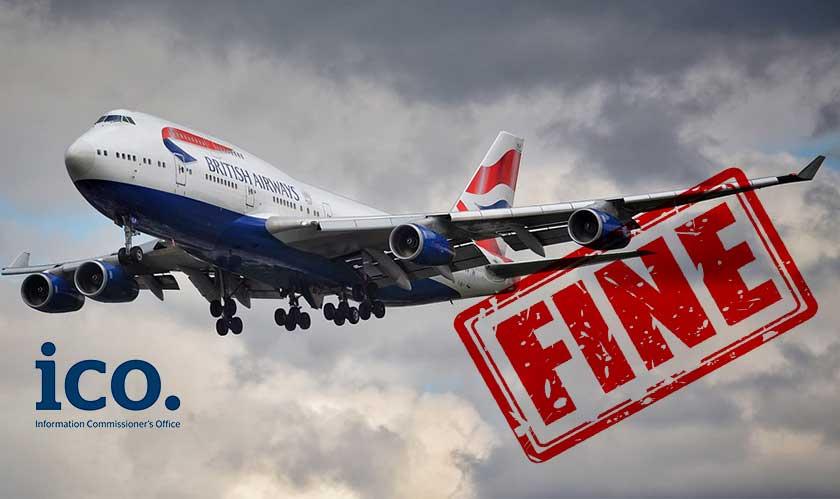 UK's ICO fines British Airways for breach under GDPR
