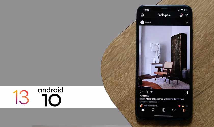 instagram darkmode ios13 android 10