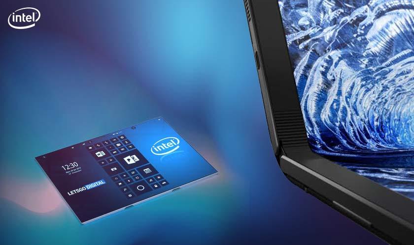 intel foldable screens tablets
