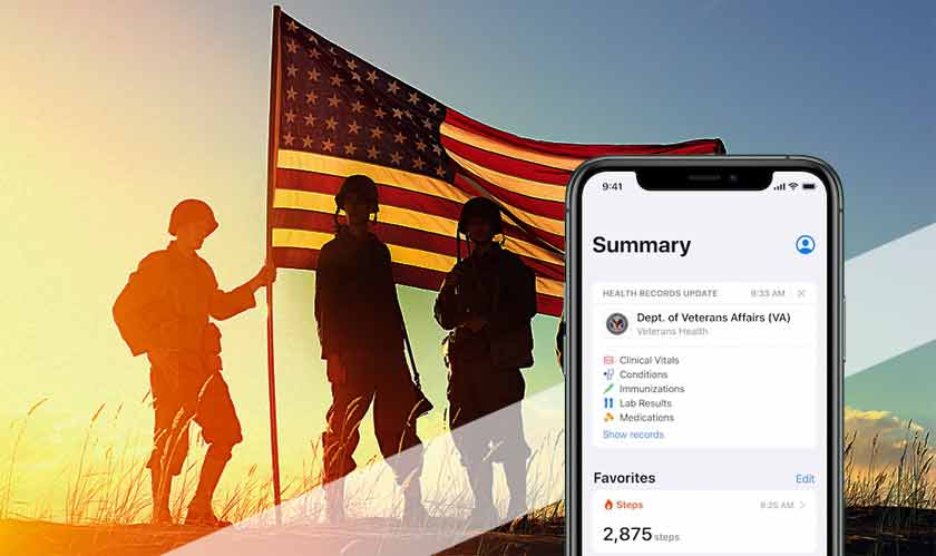 iphone health records veterans
