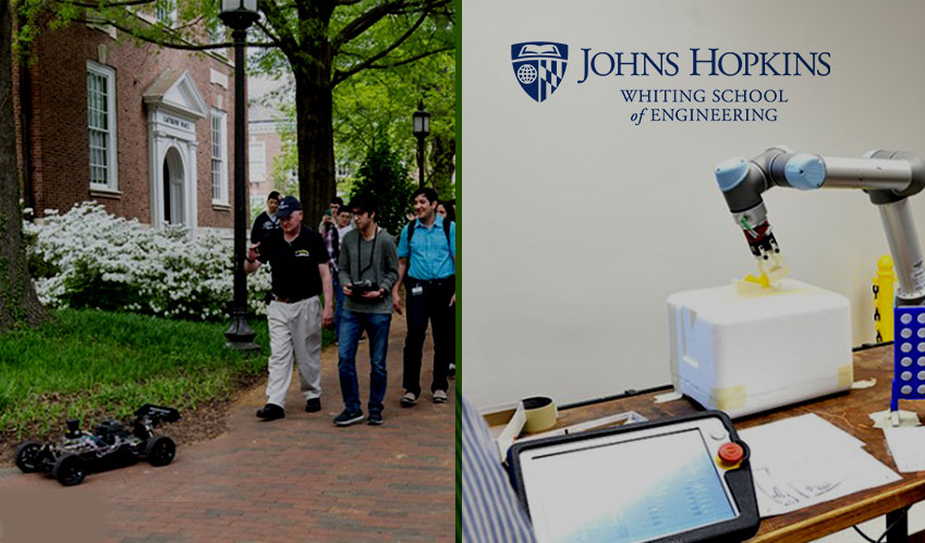 robots demo by johns hopkins students