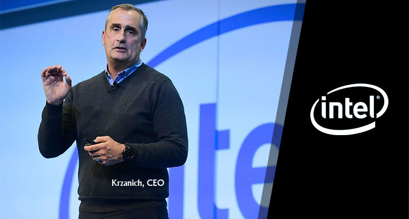 Krzanich, Intel's CEO pledged to concentrate on AI, IoT, and 5G wireless for the future