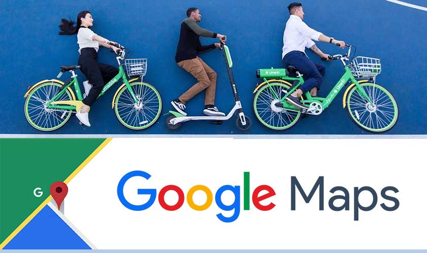Google Maps show Lime scooters and bikes in more cities