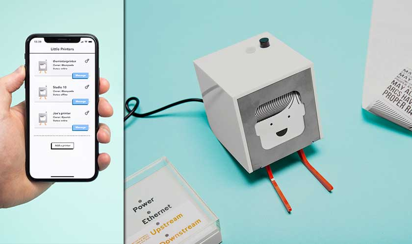 iot little printer messaging hardware