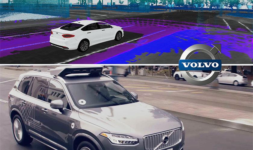 luminar volvo selfdriving car 3d