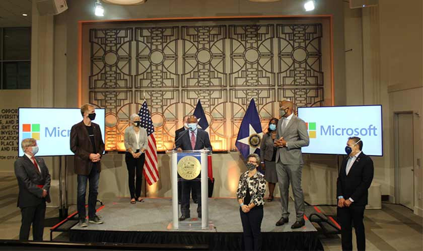 Microsoft Expands Digital Alliance with the city of Houston
