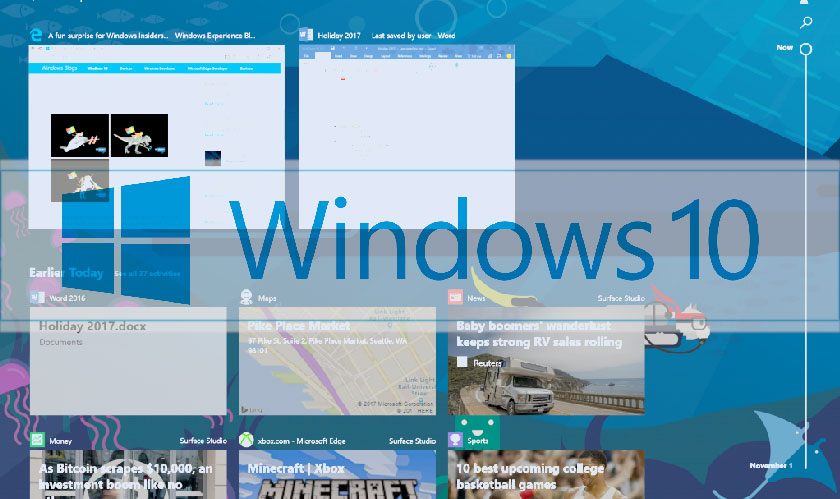 Microsoft finally releases the Timeline feature for Windows 10