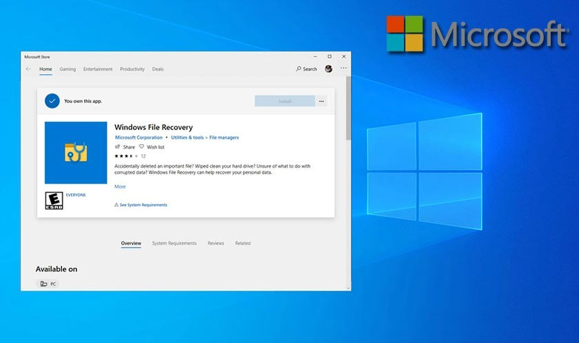 Microsoft launches its own Windows File Recovery App
