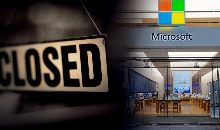 Microsoft is bringing down the shutter of all its retail stores