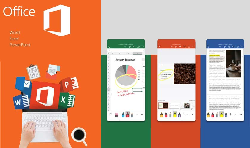 microsoft word excel powerpoint redesigned