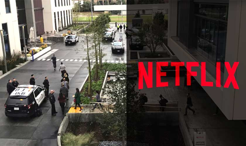 Shooter's threat lockdown Netflix in Los Angeles