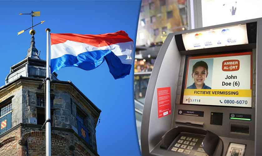 The Netherlands uses ATMs to notify people of missing children