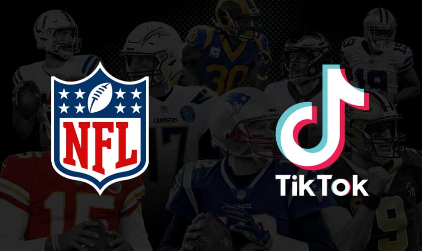nfl associates with tiktok