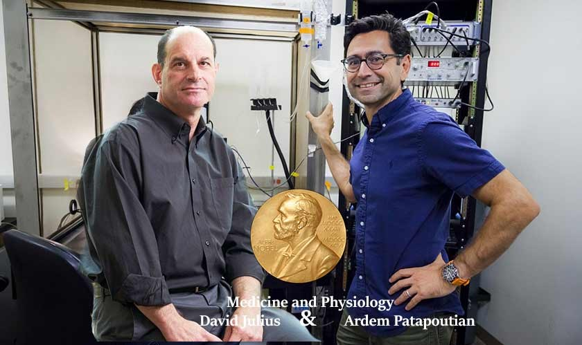 Nobel Prize for Medicine and Physiology awarded to Americans David Julius and Ardem Patapoutian
