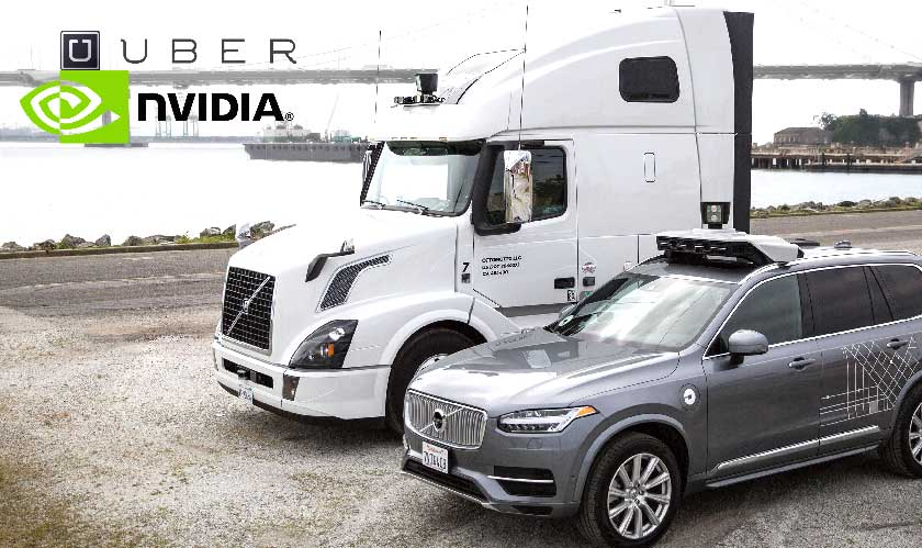 Nvidia and Uber to work together for Self-driving cars