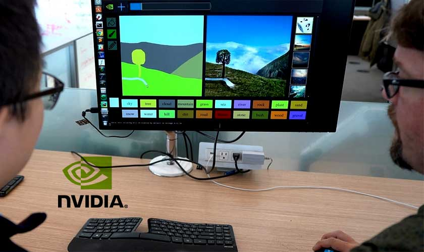Nvidia GauGAN will let people create their own synthetic scenery