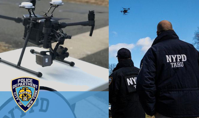 NYPD police officers are now armed with a fleet of drones