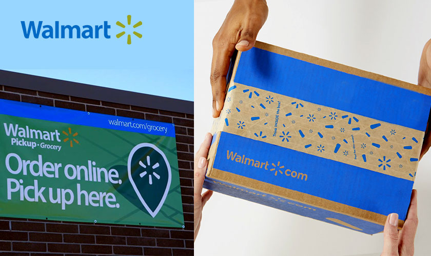 You can order from Walmart's online store while in-store