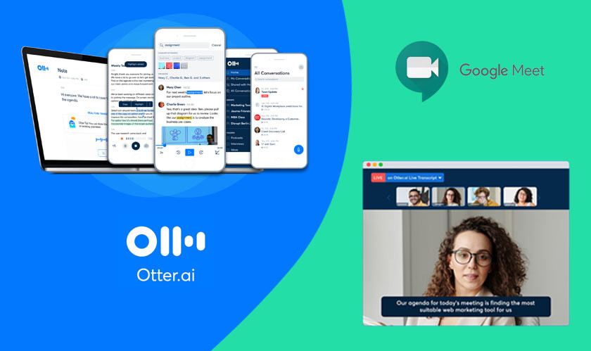 Otter.ai can transcribe Google Meet calls in real-time