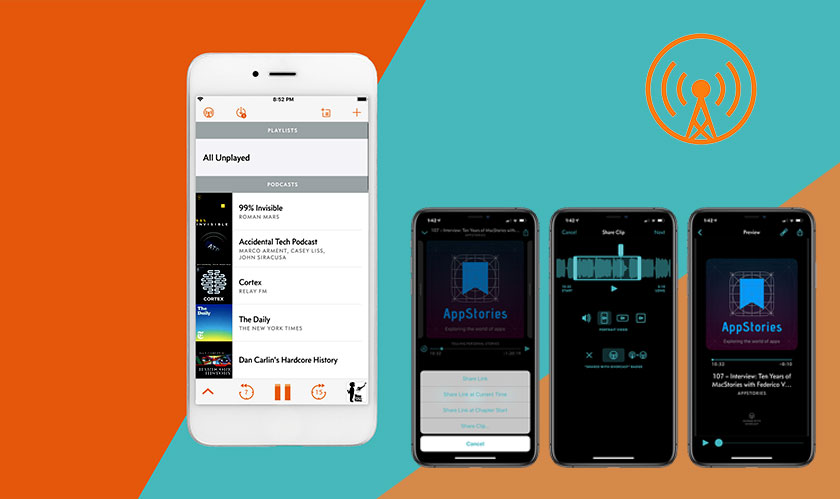 New feature on Overcast allows users to share podcast clips