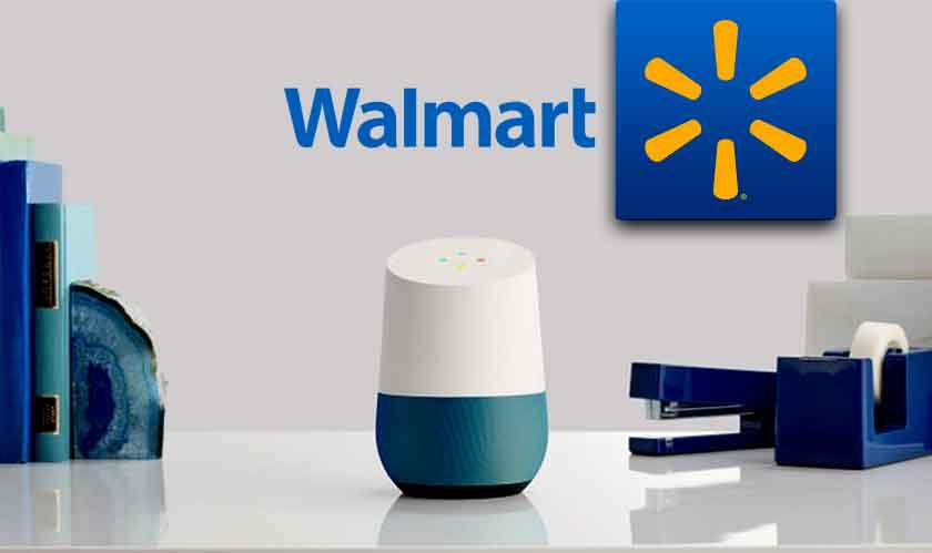 partnership between walmart and google allows voice driven shopping