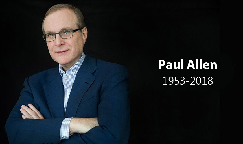 Paul Allen, a Tech and Sports luminary passes away at 65