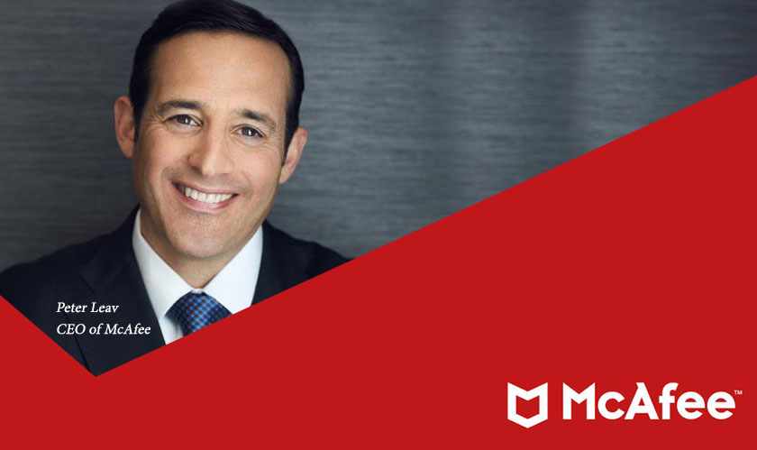 peter leav new mcafee ceo