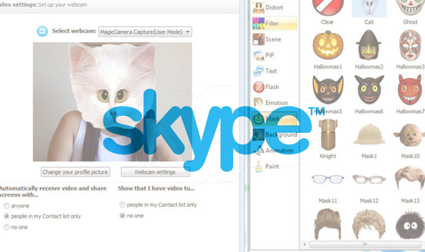 photo effects on skype