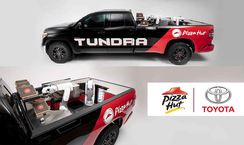pizza hut partners with toyota
