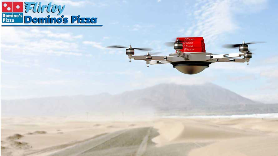 Pizzas from the sky; Domino's and Flirtey team up to deliver Pizzas