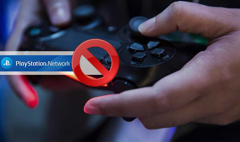 playstation network stops people playing games