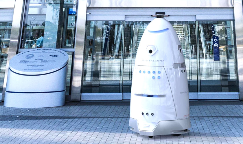 Robot sacked for vandalism and threat