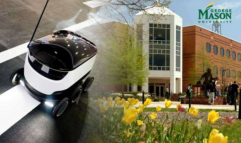 robots deliver to university students