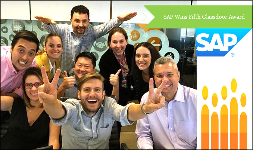 SAP has set a new record of winning five consecutive awards from Glassdoor