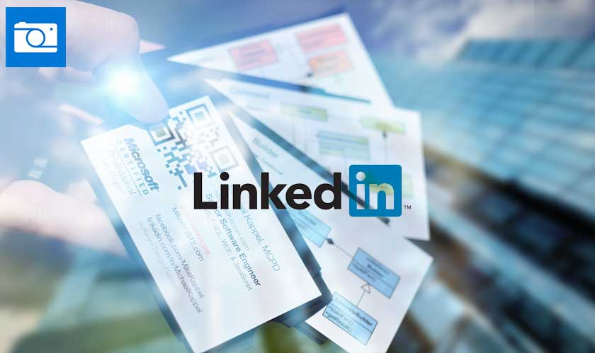 Scan business cards contacts with Microsoft Pix and find them on LinkedIn