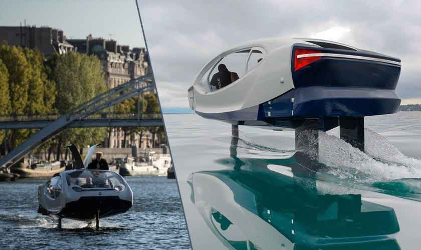 Seabubbles designs a boat to lessen traffic and pollution in cities