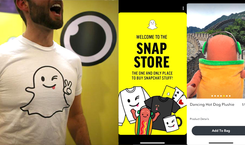 Snap Store is the latest merchandise selling app from Snapchat